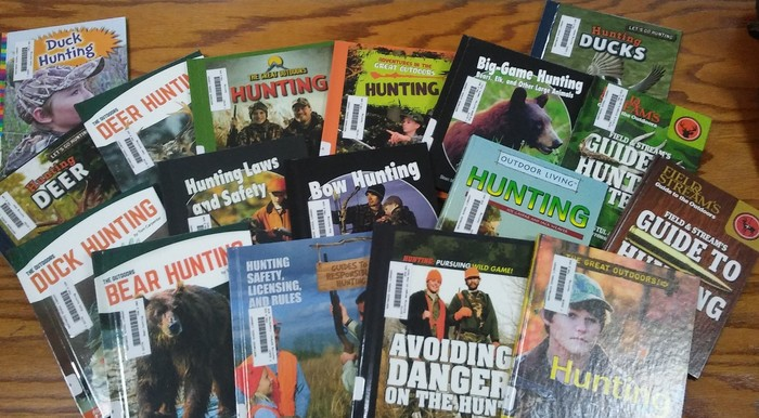 New hunting books purchased with donation from the Northwest Wisconsin Chapter of Whitetails Unlimited.