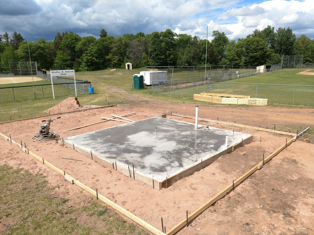 Concession Stand Concrete Slab
