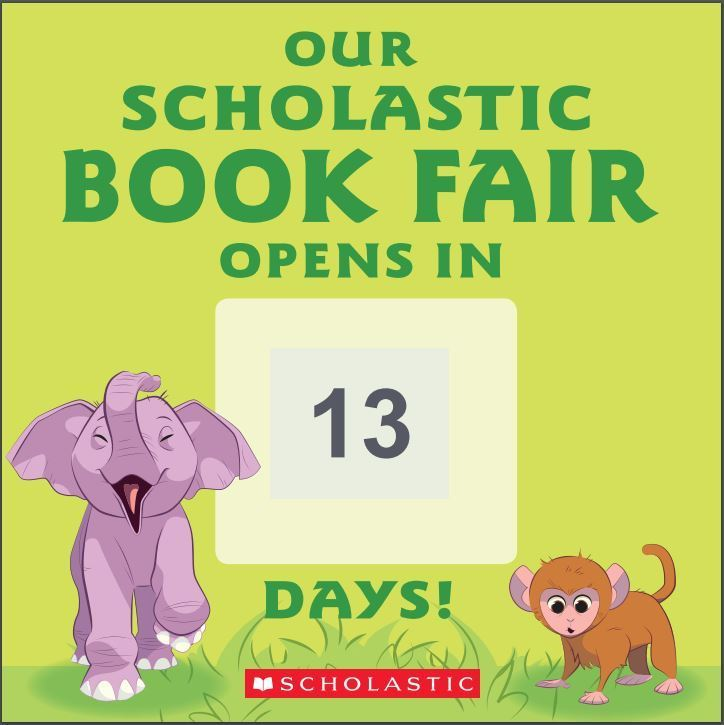 Scholastic Book Fair March 16th-20th.
